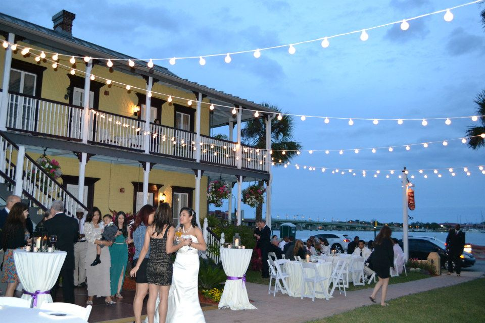 Wedding lighting and reception in St. Augustine