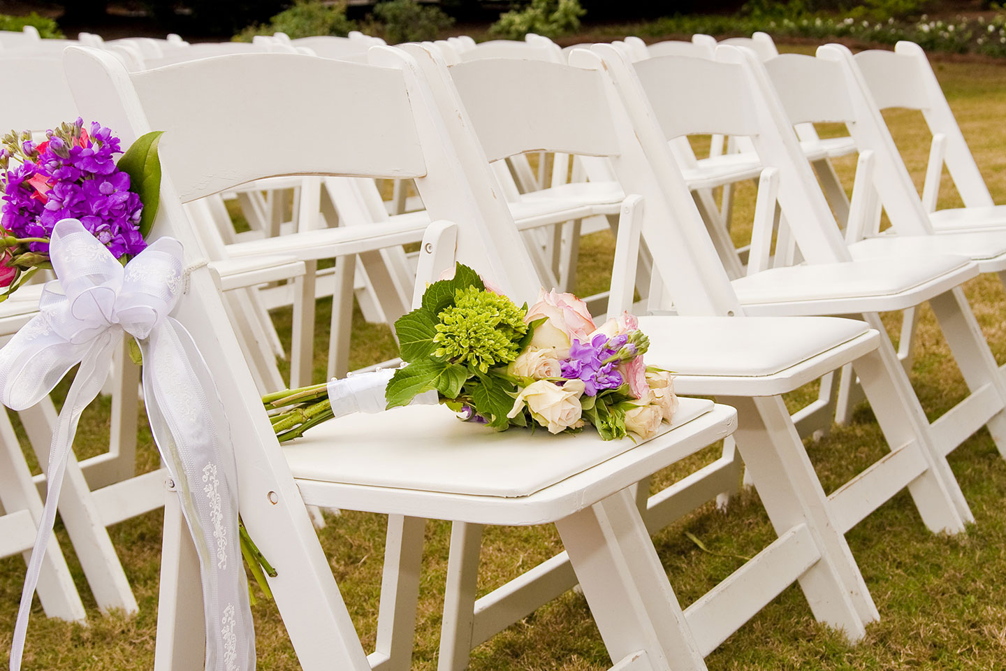 Ceremony chairs at our St. Augustine wedding venue