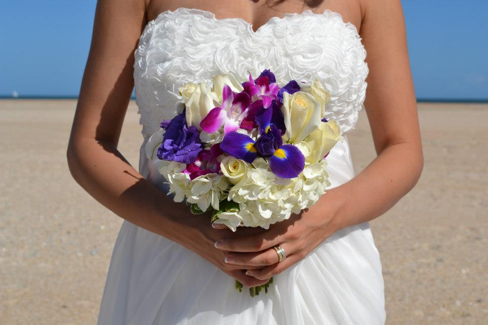 flowers for a beach wedding. beach wedding flowers in st. augustine florida for a