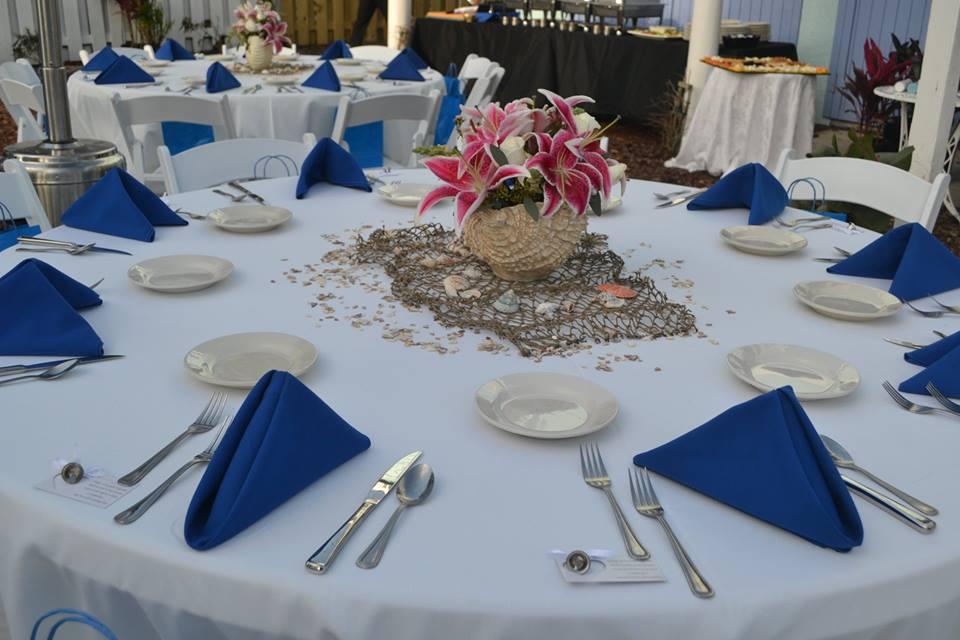 Beach Wedding Decor In St Augustine