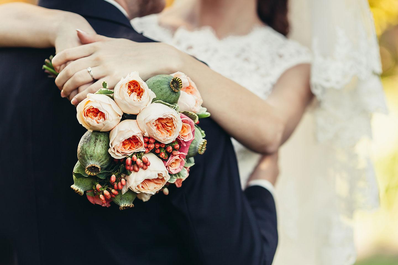St. Augustine bride and groom